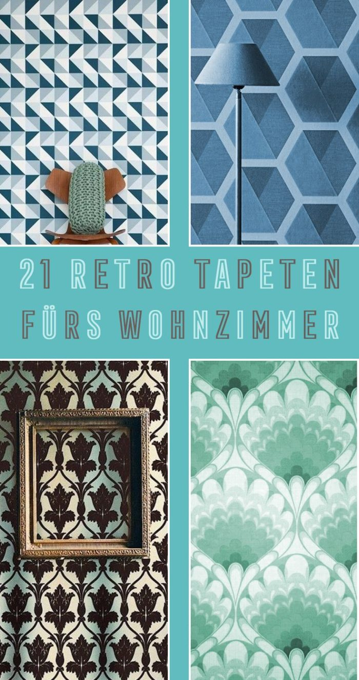 21 tapeten im retro design f r dein wohnzimmer citysteps lifestylemagazin. Black Bedroom Furniture Sets. Home Design Ideas
