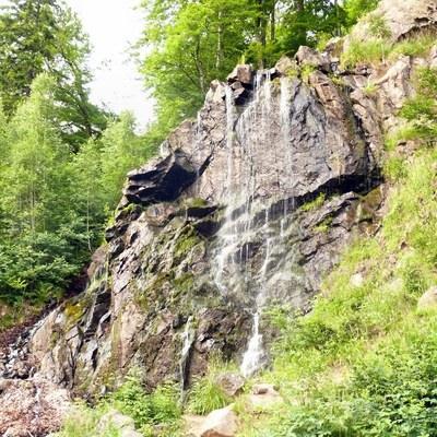 Radauwasserfall in Der Radau-Wasserfall bei Bad Harzburg