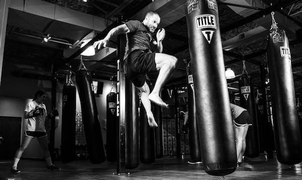 in Kampfsport als Hobby für bessere Fitness