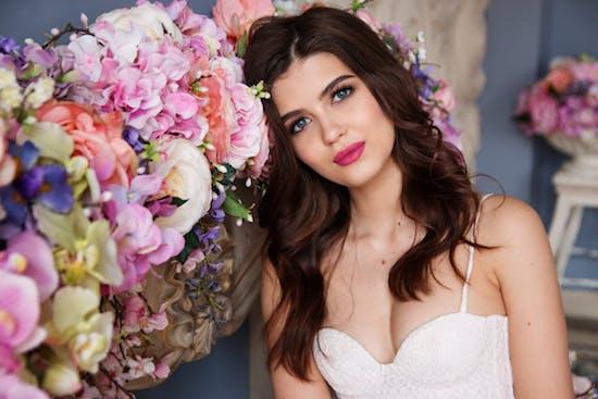 Braut Make-up und Haare